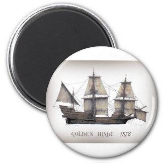 1578 Golden Hinde ship Magnet