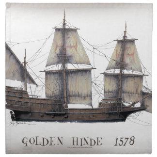 1578 Golden Hinde ship Napkin