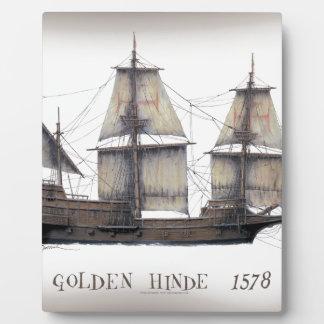 1578 Golden Hinde ship Plaque