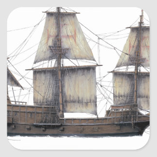 1578 Golden Hinde ship Square Sticker