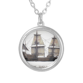1578 Golden Hinde Silver Plated Necklace