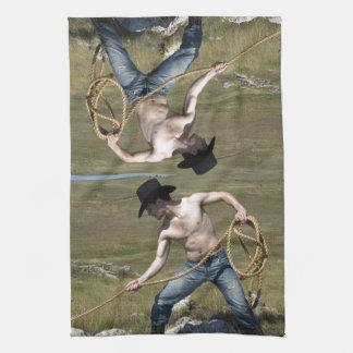 15807-RA Cowboy Tea Towel