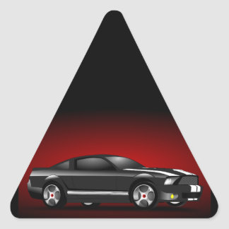 158479 FAST CARS CAR-RACING HOT STYLE AUTOMOBILE G TRIANGLE STICKER