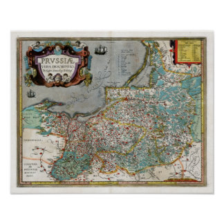 1584 Prussia Map Posters