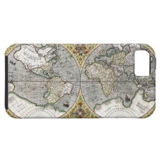 1587 World Map Tough iPhone 5 Case