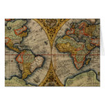 1590 world map greeting card