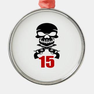 15 Birthday Designs Metal Ornament