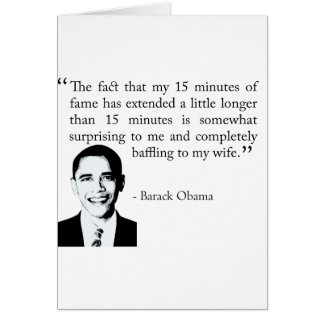 15 minutes of fame greeting card