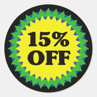 15% OFF RETAIL SALE Sticker