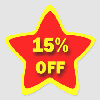 15% OFF Star Stickers