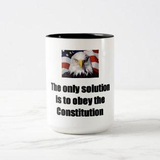 15 oz. Coffee Mug w/ Bald Eagle w/ The only