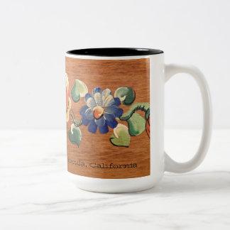 15 oz Mug with vintage wood floral