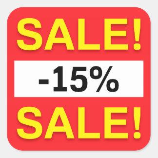 15 percent sale discount stickers