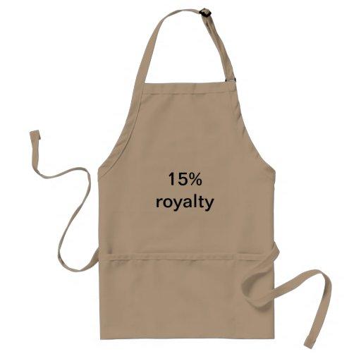15% royalty aprons