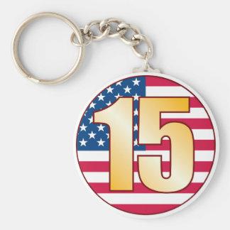 15 USA Gold Key Ring