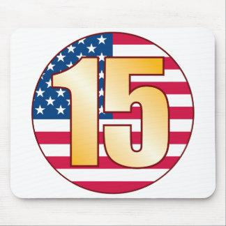 15 USA Gold Mouse Pad