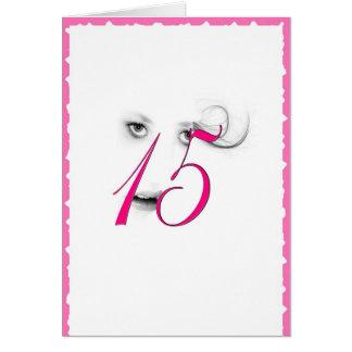 15 Year Old Girl Pink Greeting Card