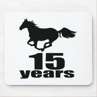 15 Years Birthday Designs Mouse Pad