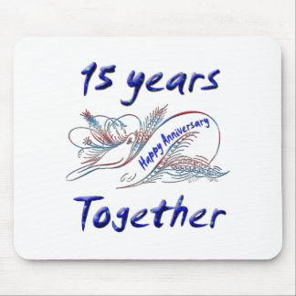 15 Years Together Mouse Pad