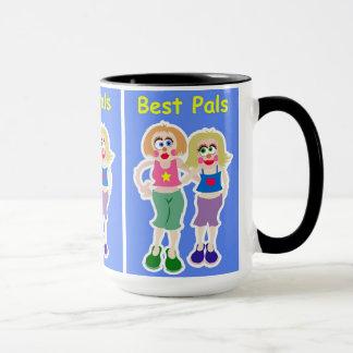 "15oz Combo Coffee Mug ""Best Friends"" By Zazz_it"