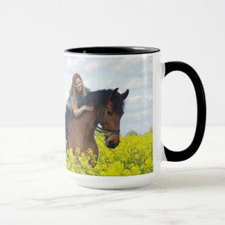 15oz Combo Coffee Mug Horse Add text By Zazz_it