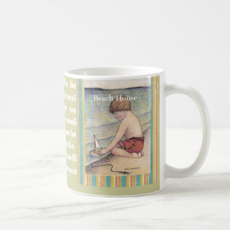 15oz Mug, Beach House /Sally Coupe Jacobson-...