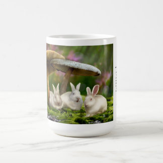 15oz Mug: Rabbits in Wonderland Rabbits mushrooms Coffee Mug