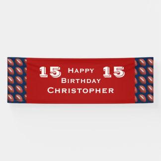 15th 16th 18th Birthday Party Teen JUMBO Football Banner