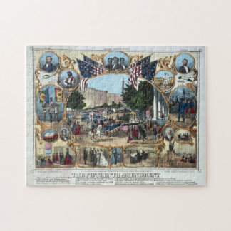 15th Amendment Abraham Lincoln Puzzle