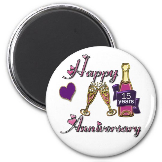 15th. Anniversary Magnet
