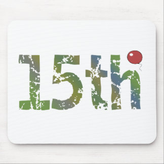 15th Birthday Balloon Gifts Mouse Pad