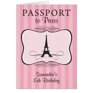 15TH Birthday Paris Passport Invitation