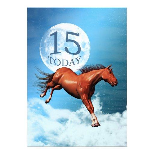 15th birthday Spirit horse party invitation