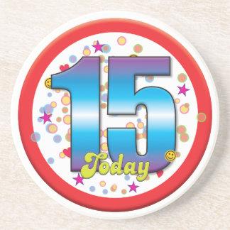 15th Birthday Today v2 Beverage Coaster