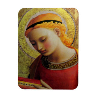 15th Century ANGEL with Bible Rectangular Photo Magnet