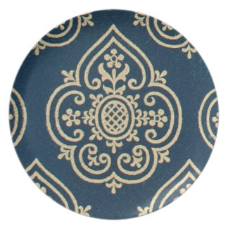 15th Century Decorative Middle Ages Design Plate
