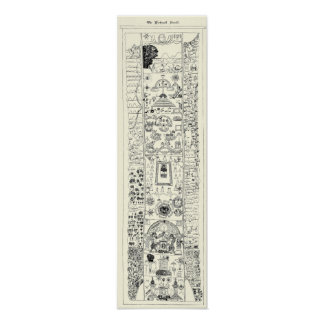 15th Century - Masonic Kirk Wall Scroll Poster