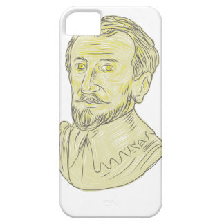 15th Century Spanish Explorer Bust Drawing Case For The iPhone 5