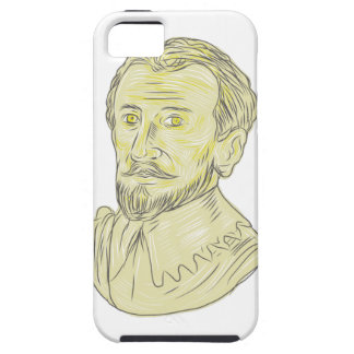 15th Century Spanish Explorer Bust Drawing iPhone 5 Covers