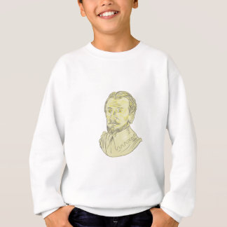 15th Century Spanish Explorer Bust Drawing Sweatshirt