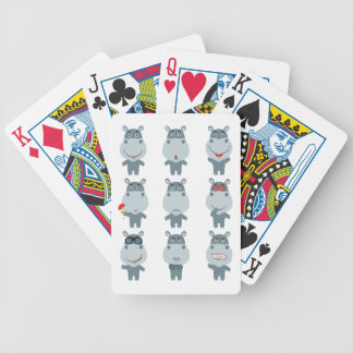 15th February - Hippo Day - Appreciation Day Bicycle Playing Cards