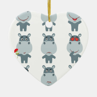 15th February - Hippo Day - Appreciation Day Ceramic Ornament