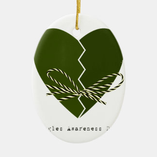 15th February - Singles Awareness Day Ceramic Ornament