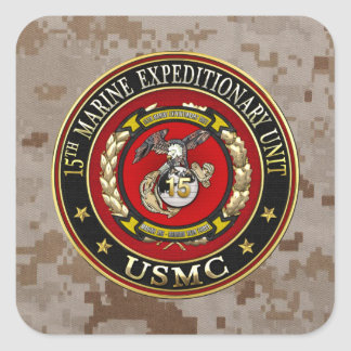15th Marine Expeditionary Unit (15th MEU) [3D] Square Sticker