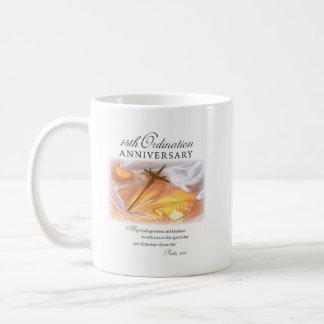 15th Ordination Anniversary, Cross Candle Coffee Mug