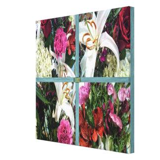15th Pattern; Window Flowers Canvas Print