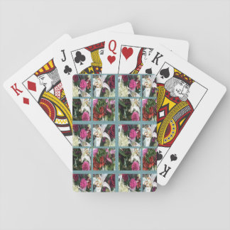 15th Pattern; Window Flowers Playing Cards