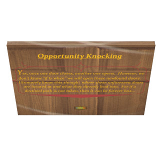 15th Quote; Opportunity Knocking Canvas Print