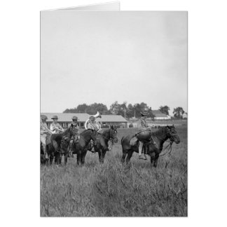 15th U.S. Cavalry Band, early 1900s Greeting Card