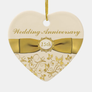 15th Wedding Anniversary Christmas Ornament